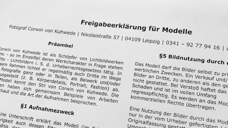 Wie muss ein Modelvertrag gestaltet sein?