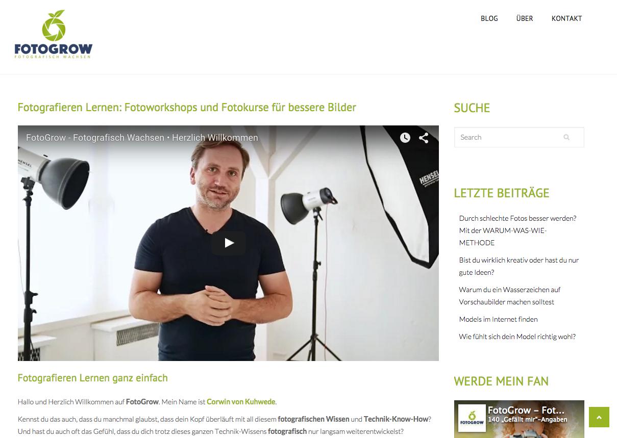 FotoGrow neue Webseite ist online