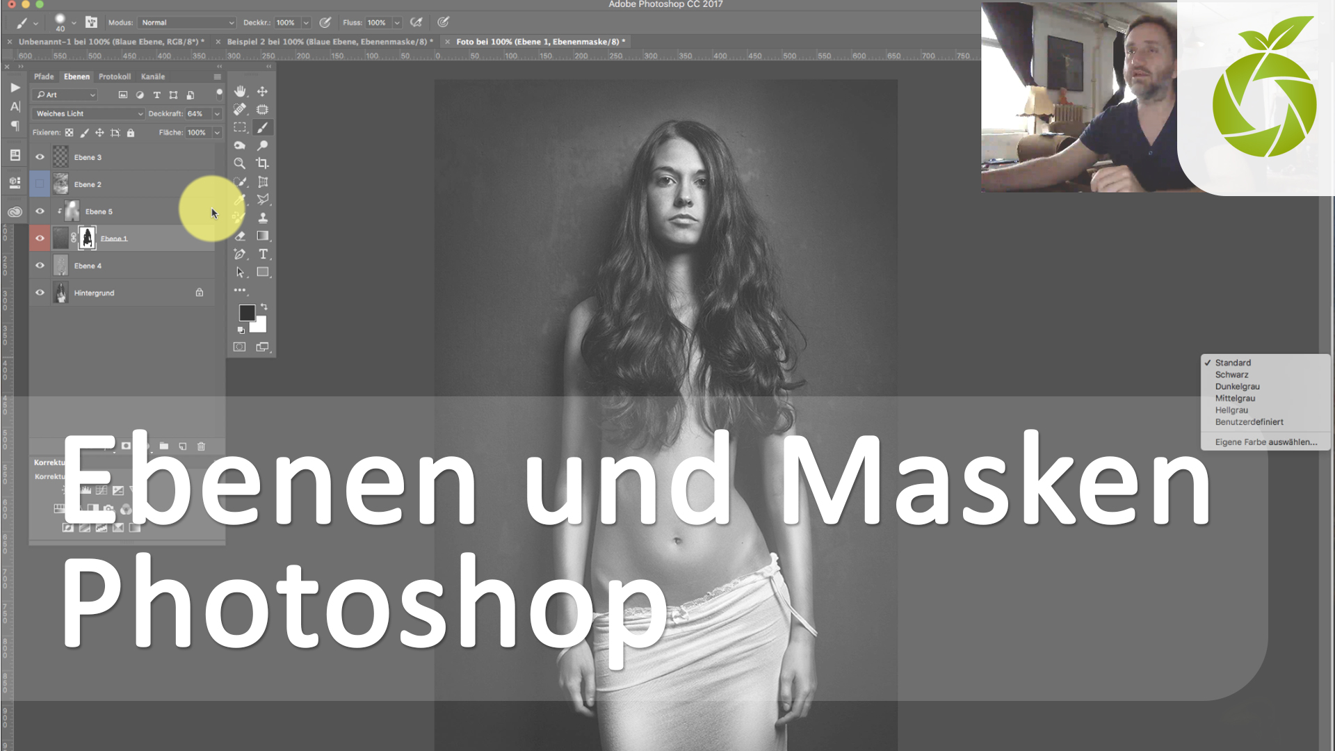 Photoshop Tutorial zu Ebenen und Masken